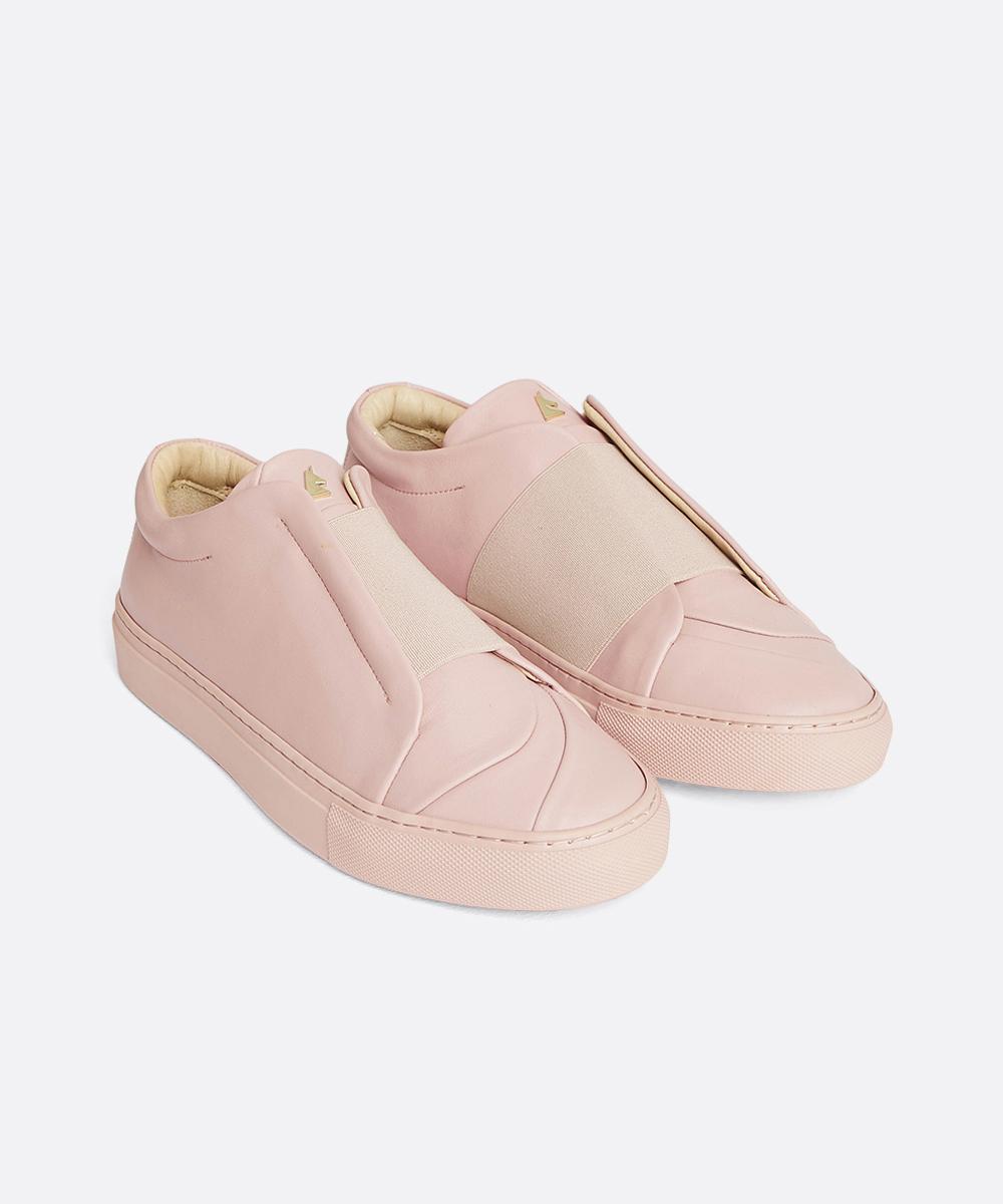 Bisous Low-Top Blush Pink Sneaker
