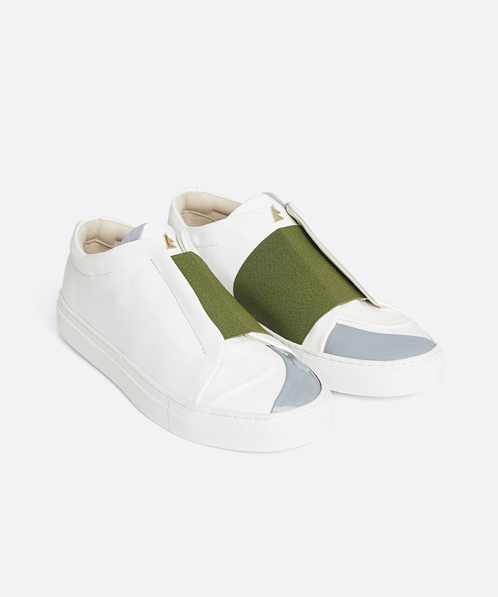 Bonheur B.K Low-Top White Sneaker