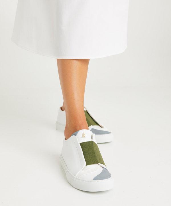 ces élégantes sneakers permettent des combinaisons infinies de couleurs et de cuirs
