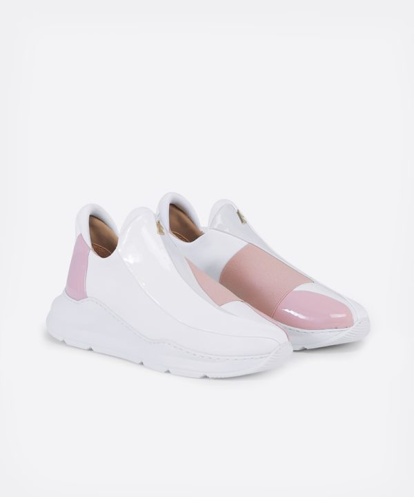 Electron. 05 White and Pink Sneaker