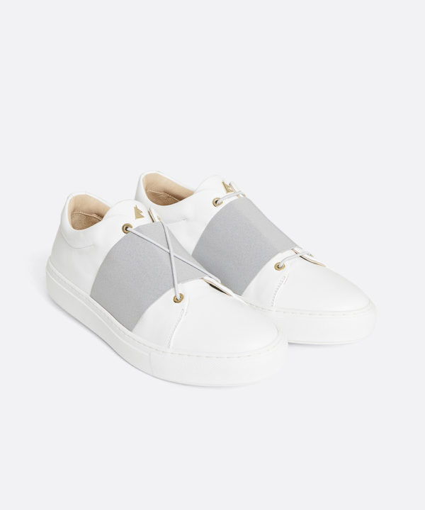 XOXO B.G Low-Top White Sneaker