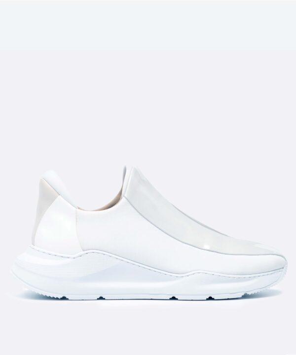 Electron. 01 Sneaker Blanche Side