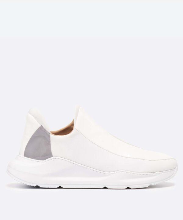 Electron. 07 Sneaker Blanche et Kaki Slide