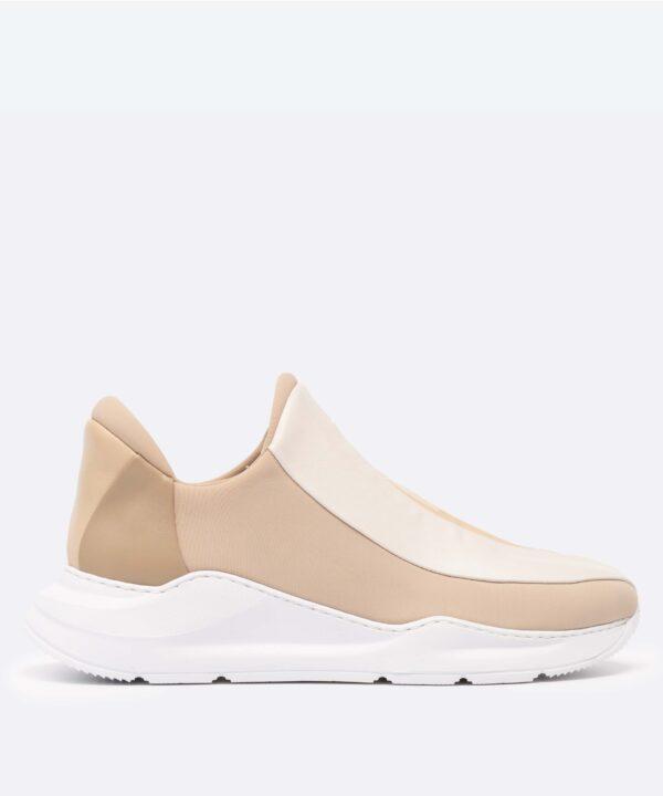 Electron. 02 Sneaker Beige Side