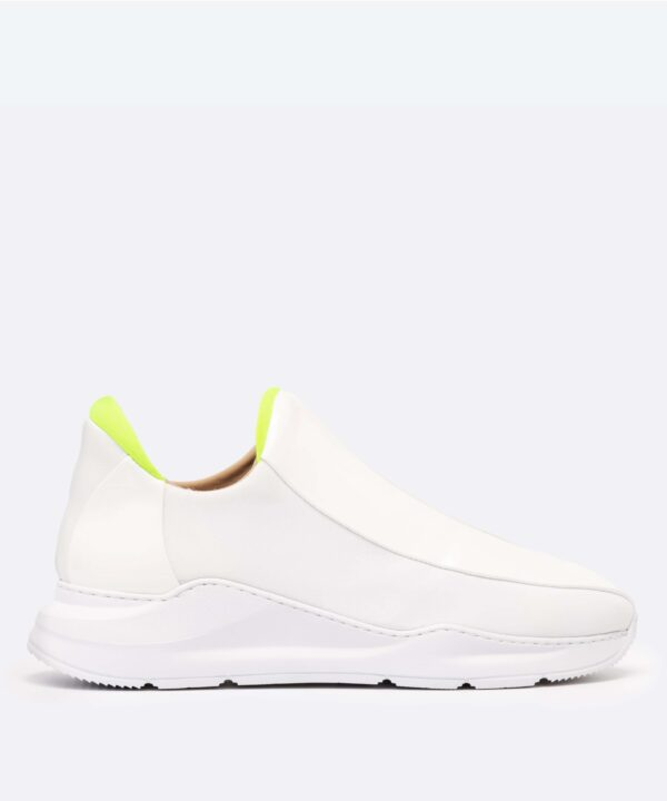 Electron. 04 Sneaker Blanche et Neon Side