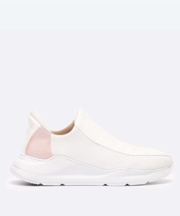 Electron. 05 Sneaker Blanche et Rose Side