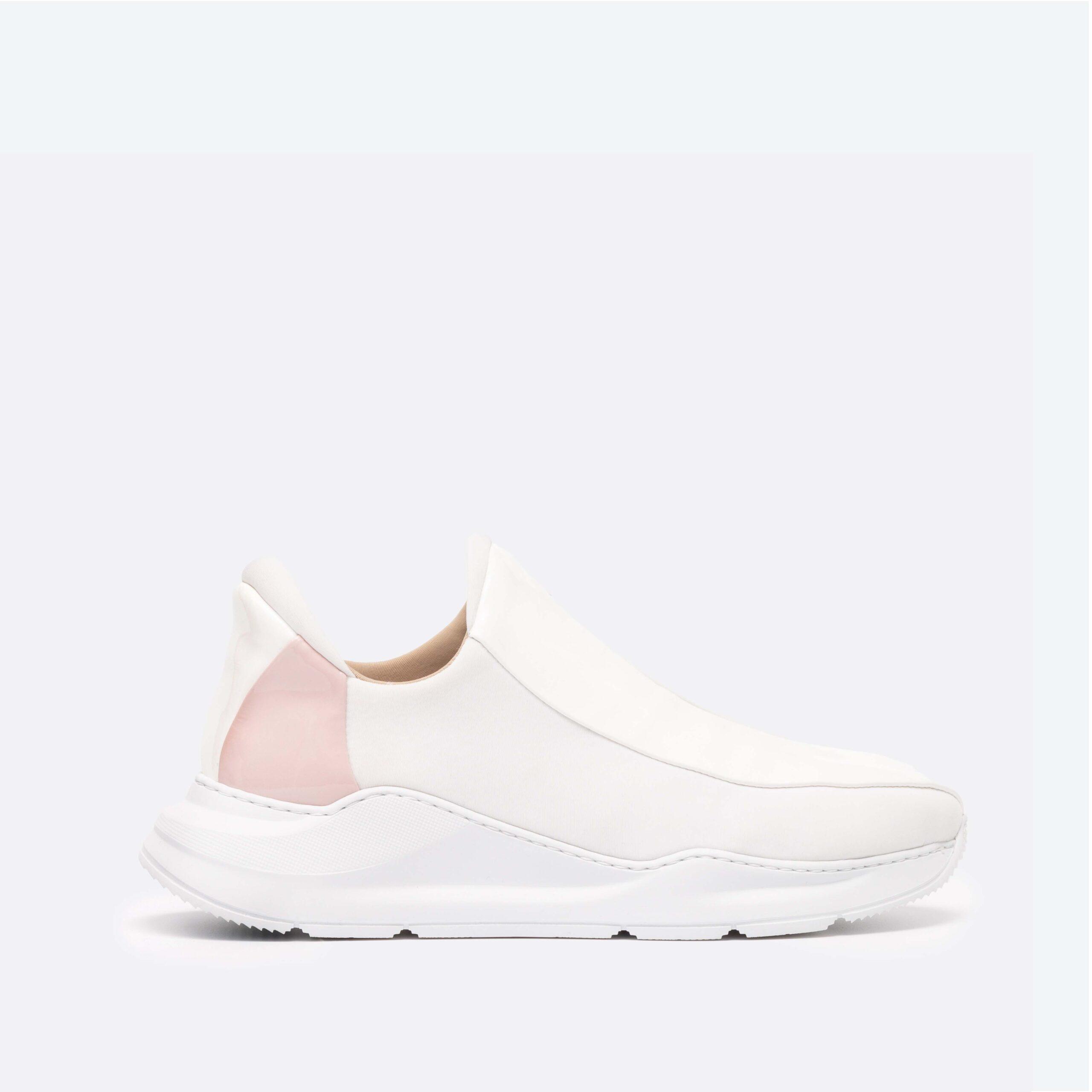 Electron. 05 Sneaker Blanche et Rose