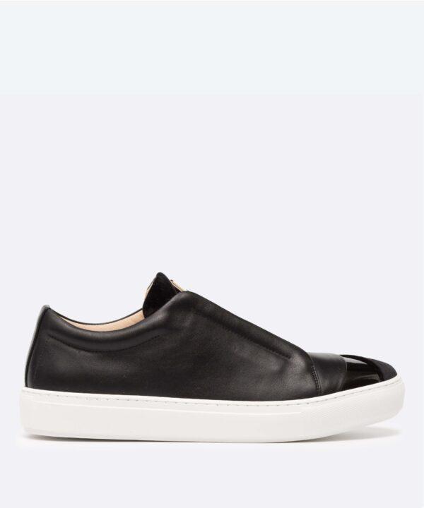 Hiver Velvet Low-Top Black Sneaker Side