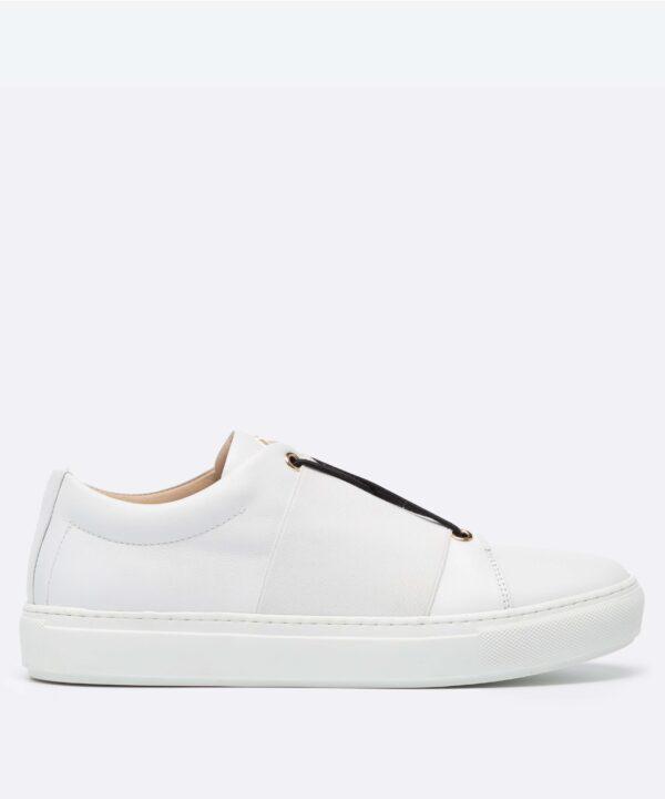 XOXO B.B Low-Top White Sneaker Side