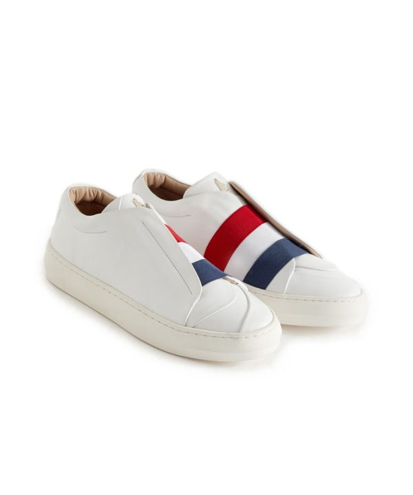 Liberté White Low-Top Sneaker