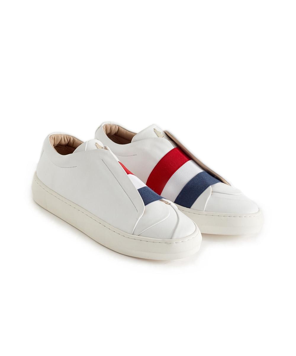Liberté White Low-Top Sneaker