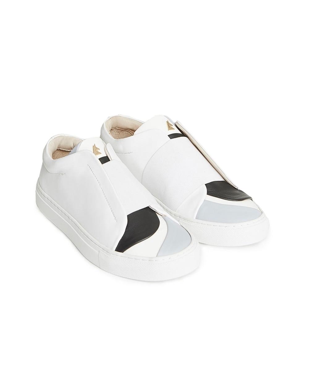 Marin White Low-Top Sneaker