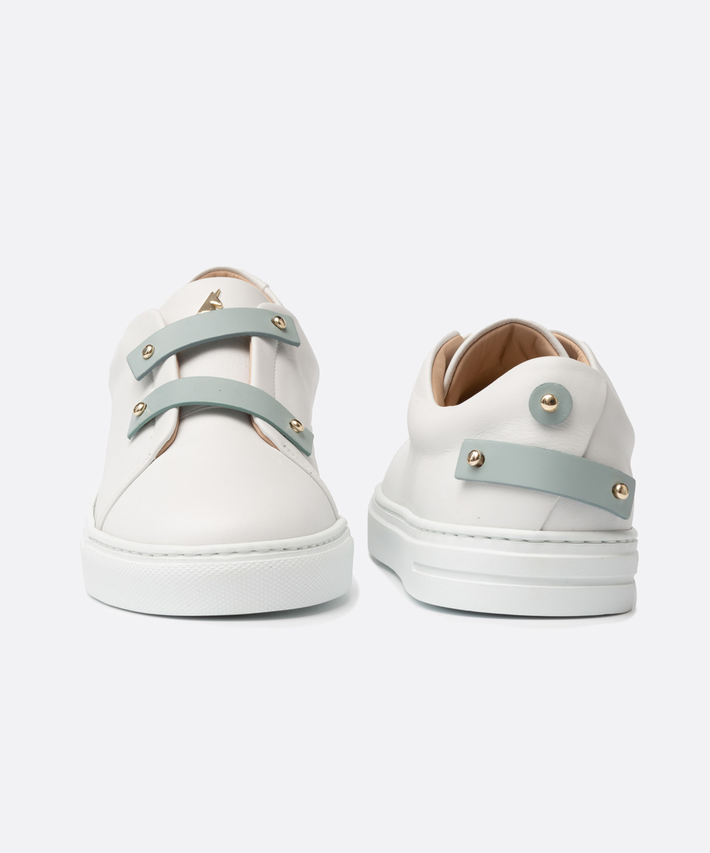 Baby Blue Leather Straps