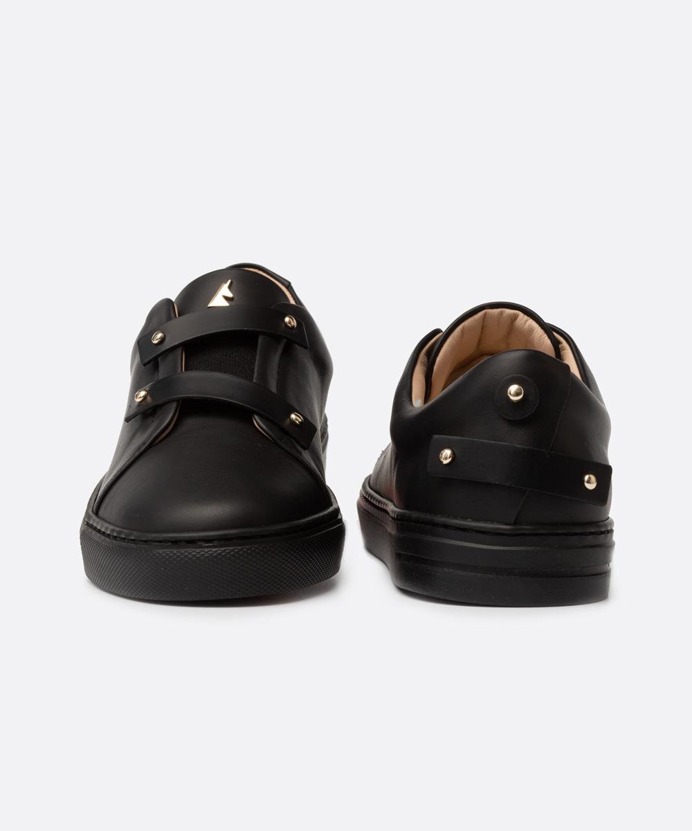 Matt Black Leather Straps