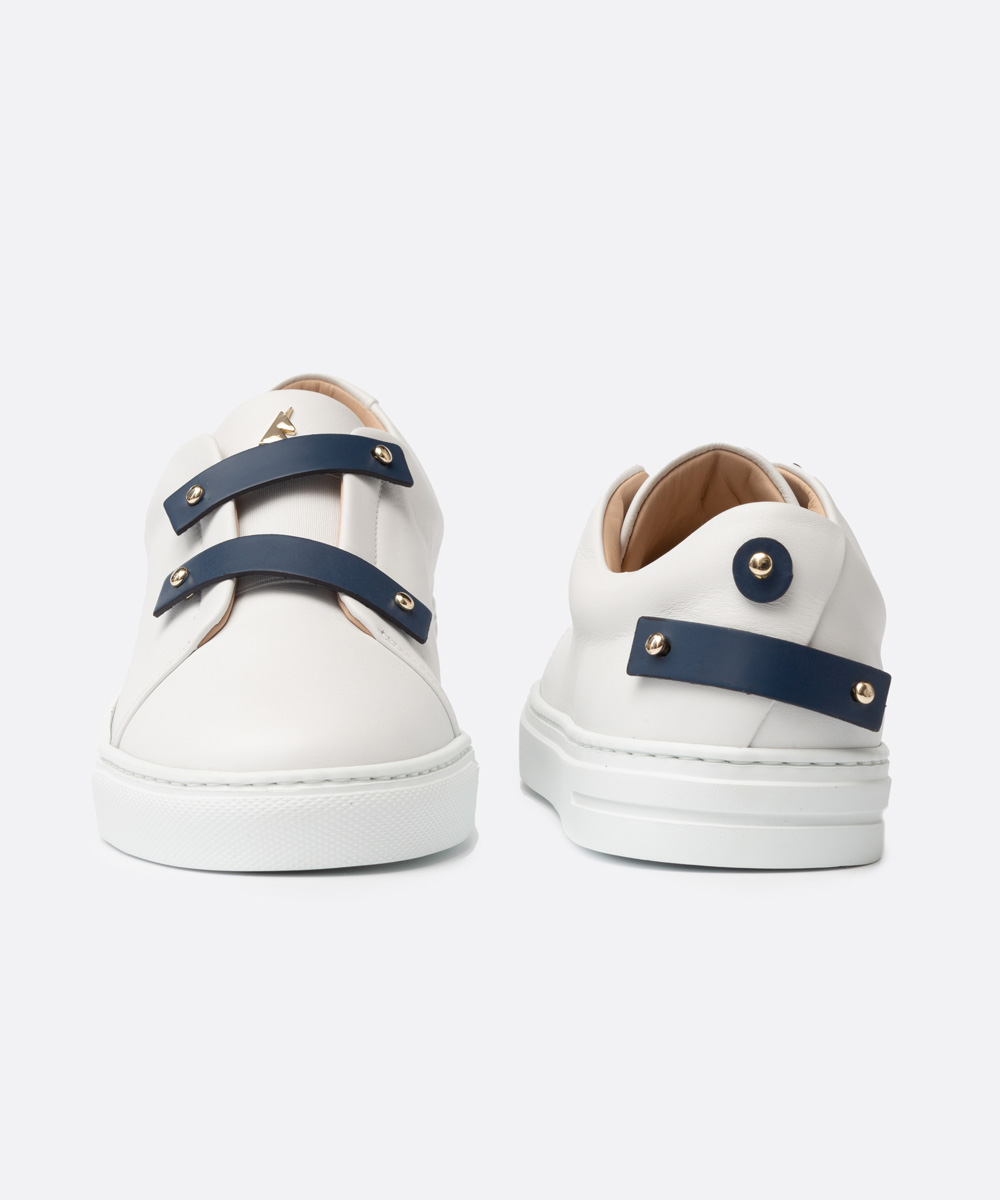 Navy Blue Leather Straps