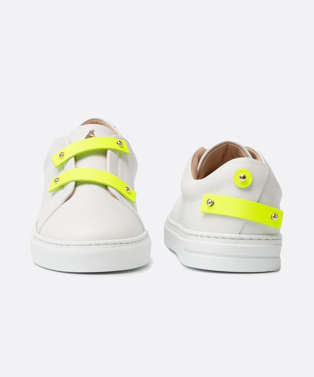 Neon Yellow Leather Straps