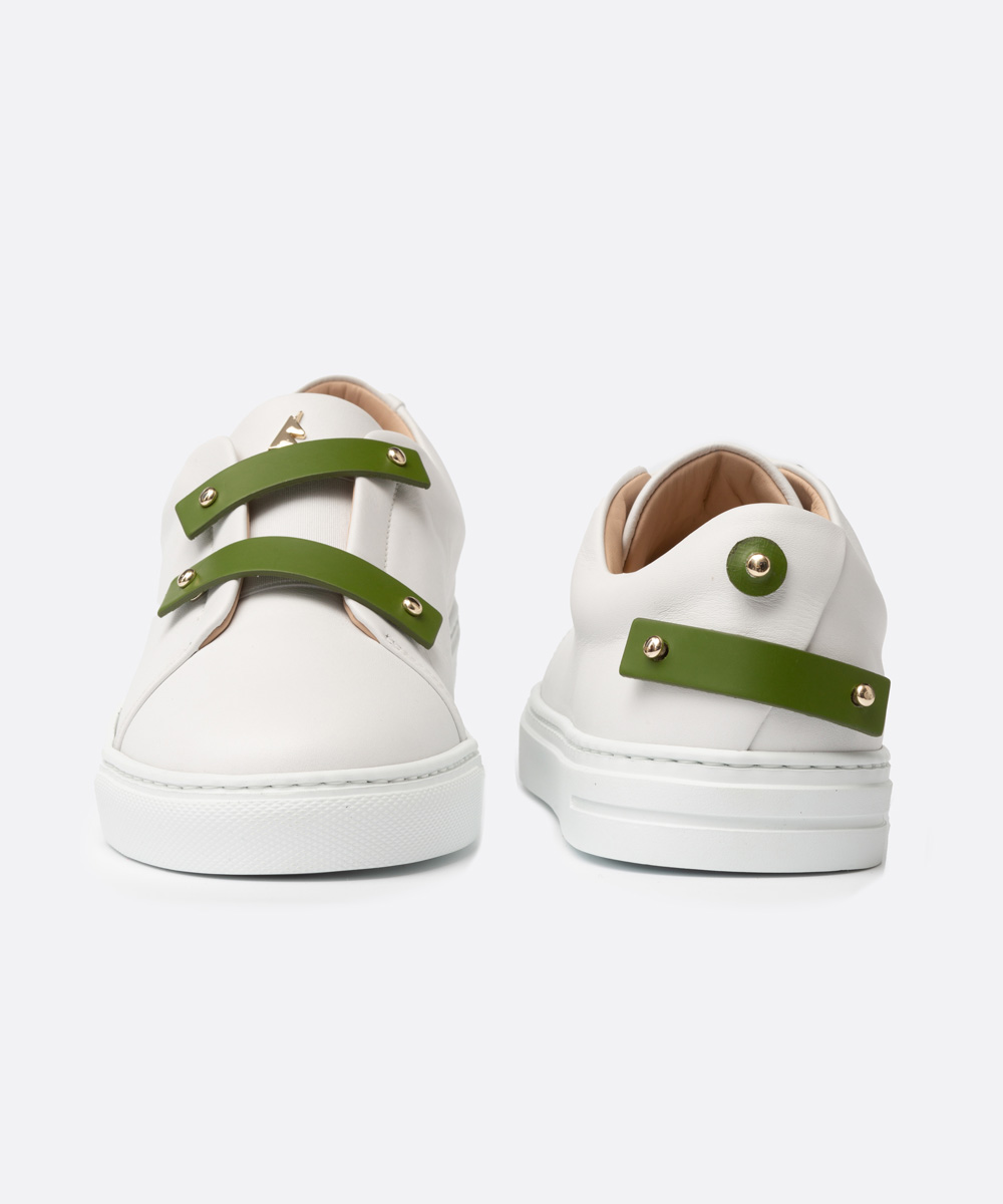 Olive Green Leather Straps