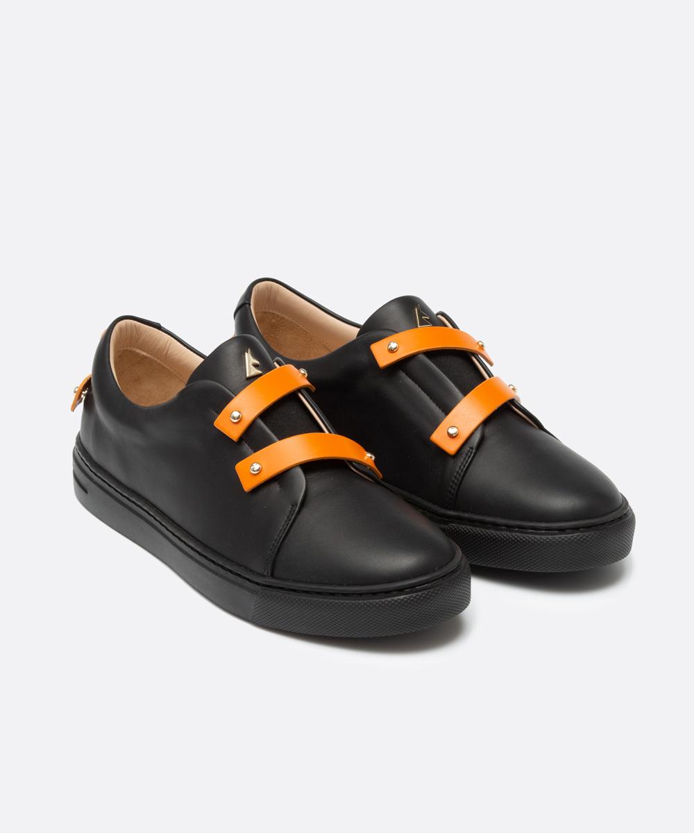 Orange Leather Straps