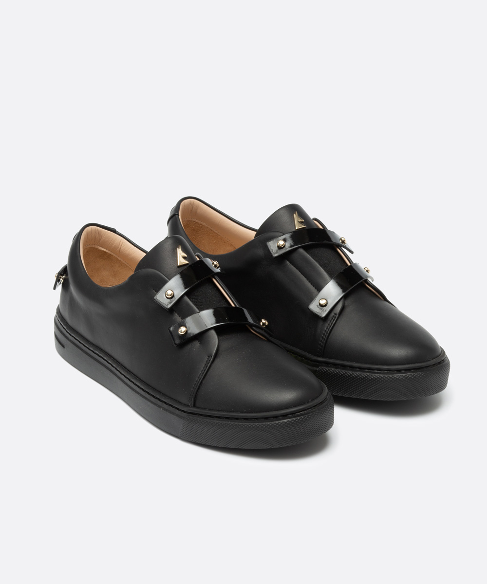 Patent Black Leather Straps