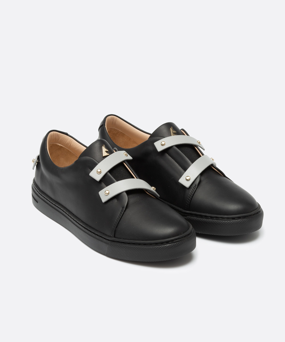 Grey Leather Straps