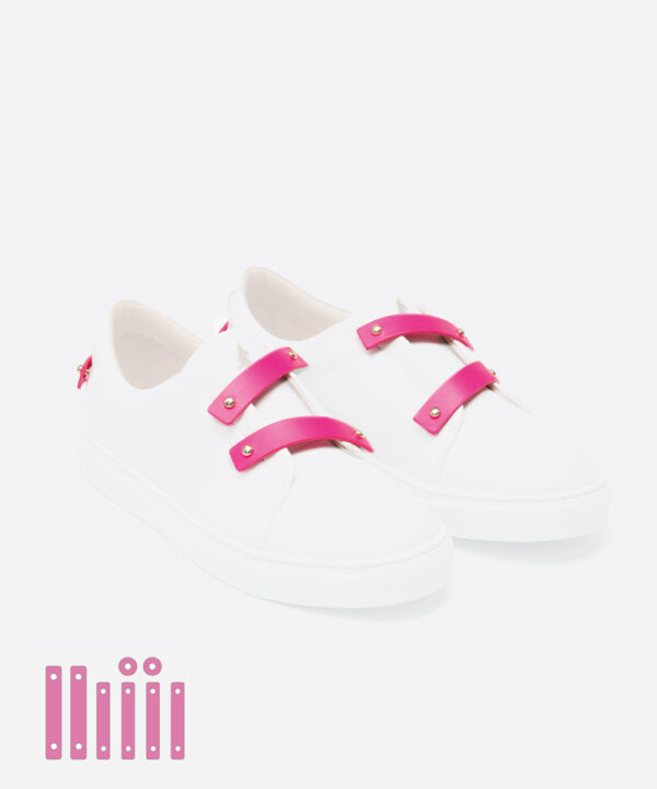 Neon Pink Leather Straps
